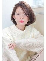 アンアミ オモテサンドウ(Un ami omotesando)【Un ami】クラシカルボブ×ミルクティーカラー 工藤 由佳