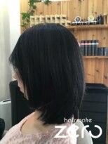 ヘアーメイクゼロ 坂戸駅前店(hairmake zero)ナチュラルブラックグレイカラー