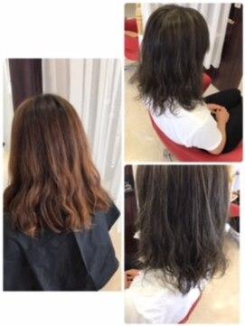 ヘアーメイク カリユ(HAIR MAKE kariyu)ハイライト&ブルーシルバー
