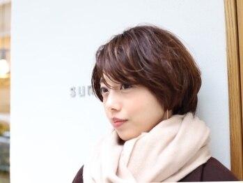 スミカ(sumika)の写真/<大人可愛い>をコンセプトに絶対可愛く女性らしさを引き出す。顔周り1ミリまでこだわったカットは再現性◎