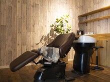 ルーフ ヘア アンド リラクション(RooF Hair and Relaxation)の雰囲気(半個室!お首が楽な最高級シャンプー台。夢シャンプー!)