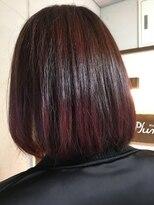 ヘアーメイク プリュム(Hair make Plume)ブラウン×毛先ピンク
