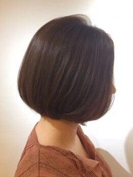 スマートカラー キレイ オーミー 大津テラス店(Kirei Oh!Me)の写真/[根元¥3540/全体¥4570]繰り返しのカラーで傷んだ髪や,エイジング毛のお悩みに◎髪質改善<ソヴァールカラー>