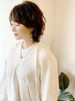 ラトリエコンタン(L´atelier Content)【LatelierContent yumi】トップから動きのある長めショート