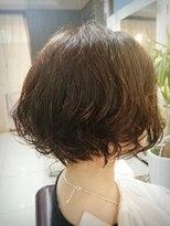 毛先パーマの朝楽スタイル☆モーブカラー