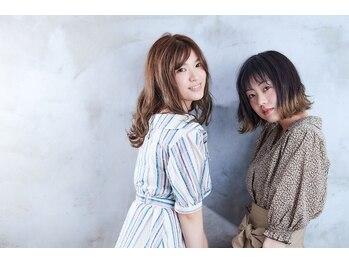 アズヘアー 北野田店(A'z hair)の写真/『こだわりぬいたカットと透明感溢れる美髪クリスタルカラー』毛先までカラーが映えるキレイな艶髪に♪