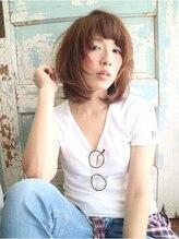 ヘアデザイン ラポール 茨木店(hair design Rapport)大人かわいいノームコア小顔ドレープボブ/無造作ウェーブ