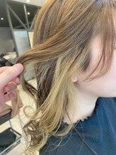 ラナヘアーサロン ホシガオカ(Lana hair salon HOSHIGAOKA)さりげなさが可愛い。イヤリングカラー☆
