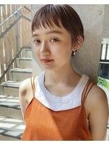 【ON】オン眉ショート × ホットベージュ