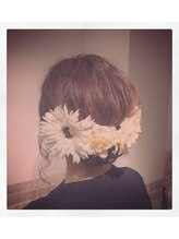 ヴィヴィ(ヘアセット&メイク専門店 VIVI)flower loose アップスタイル