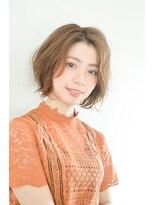 ボヌール 西梅田店(Bonheur)【女性stylist杉崎】ニュアンスパーマで柔らかいショートボブ