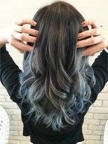 ヘアーグランデシーク(Hair Grande Seeek)グレー×ブルー グラデcolor♪