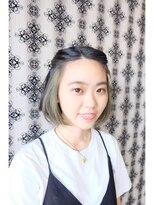 ヘアデザイン ダブル(hair design Double)ショートボブでチラ見せインナーカラー☆彡