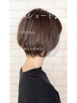 ビス ヘア アンド ビューティー 西新井店(Vis Hair&Beauty)20代30代大人かわいい丸みショート×フォギーベージュ♪