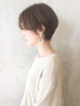 アルバムギンザ(ALBUM GINZA)の写真/【カット¥2400~】骨格補正カットで小顔に!ごまかしが利かないショートだからこそ卓越した技術が光る☆