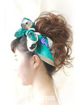 ヘアセットサロン パスクア(Hair Set Salon Pasqua)サマーカジュアルお団子スタイル
