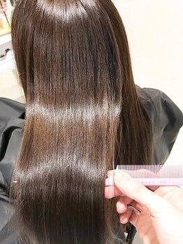 ラグジー(Luxy HAIR RESORT)の写真/奈良希少!《厳選ダメージヘア専用Tr》で、希望に満ちた天使の輪を…♪ストレスフリーのMY素髪に自信★