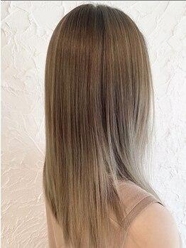 ヘアメイク ミエル(HAIR MAKE miel)の写真/北陸希少!!圧倒的な艶カラー!ダメージレスで頭皮に優しいカラー『イノアオイルカラー』がオススメ♪