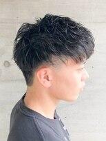 銀座マツナガ 箱崎店(GINZA MATSUNAGA)爽やか黒髪刈り上げツーブロック束感ビジカジ