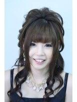 盛り髪(盛りヘア)の盛り髪ダウンセット画像
