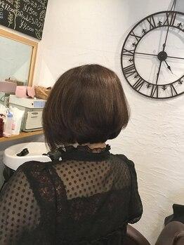 """ヘアサロン エルム(hair salon elm)の写真/オーガニックカラーを使用☆""""髪に良いものを""""に本気で向き合うオーナーの手で新しい私発見!"""