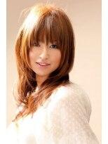 ヘアーアート シフォン 池袋東口店(Hair art chiffon)ワイドバング&モーブカラーのワンサイドくびれミディ風ヘア 10