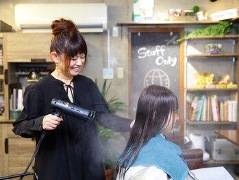ヘアスタジオ トランク(Hair Studio TRUNK)の写真/≪三ノ輪徒歩1分≫女性ならではの目線で、あなたの理想を叶えます*ゆったりとしたサロンタイムをご提供♪