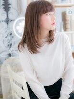 ■mod's上尾9-9★■小顔x斜めバングのウルツヤストレート