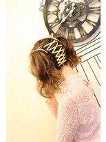 ヘアセットサロン アトリエ チャイ(Hair set salon atelier CHAI)リボン編み込みツインテール