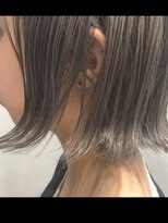 ヘアーヒーリングウィッシュ(Hair Healing Wish)外ハネ ブルージュカラー小顔に見せるヘア[調布/国領]