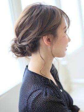 アグ ヘアー ドレス 喜久田店(Agu hair dress)後れ毛ダウンアップヘアアレンジ