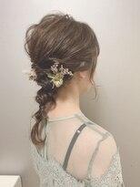 ピエドプールポッシュ(PiED DE POULE POCHE)* arrange hair * × 小花を散りばめた編み下ろし