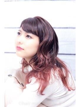 ヘアーメイク ダンス(hair make DANCE)バレイヤージュ edolピンク+α