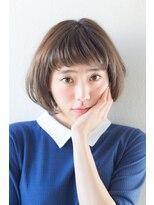 アッシュ ヘアーメイク 桐生(ash hair×make)モカベージュ×小顔ヘルシーナチュラルボブ