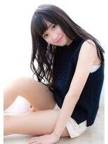 【Lufeli】黒髪でもヘルシー可愛め☆ゆるんロング☆ワンサイド