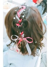 ヘアーメイク ティアラ(Hair make Tiara)編込みハートヘア☆+゜