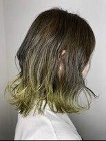ソース ヘア アトリエ(Source hair atelier)【SOURCE】ライトイエローグラデーション