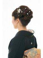 和装のヘアセット★黒留袖/ご親族の結婚式に着付とヘアセット3