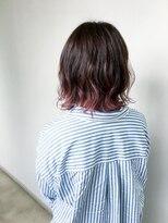 ピンクグラデーション_ハネボブ_派手髪