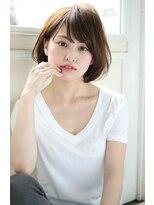 ジョエミバイアンアミ(joemi by Un ami)【joemi】トップのペタンを解消するひし形シルエットのボブ