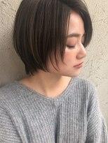 アンアミ オモテサンドウ(Un ami omotesando)【Unami】 2018 小顔柔らかショート 島田梨沙