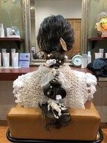 ヘアガーデンプア(Hair Garden Pua)編み込みwithリボン
