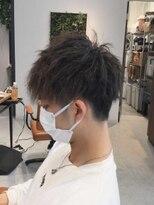 アクシア 大和田店(axia)ソフトツイスト+ツーブロマッシュショート