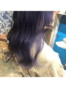 ロコマーケット 下北沢店(hair meke Deco.Tokyo)デザインカラー☆ラベンダー
