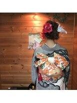 成人式 編み込みアレンジstyle
