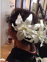 カサブランカの髪飾り