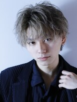 リップスヘアー 梅田アネックス(LIPPS hair)ライトヘーゼルショート【センターパート】