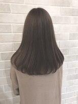 アールプラスヘアサロン(ar+ hair salon)透明感グレージュミディ
