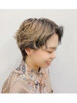 エイム ヘアメイク 横川店(eim HAIR MAKE)パーマで大人ショート♪