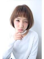 ソース ヘア アトリエ(Source hair atelier)オンマユショートボブ(アッシュベージュ)